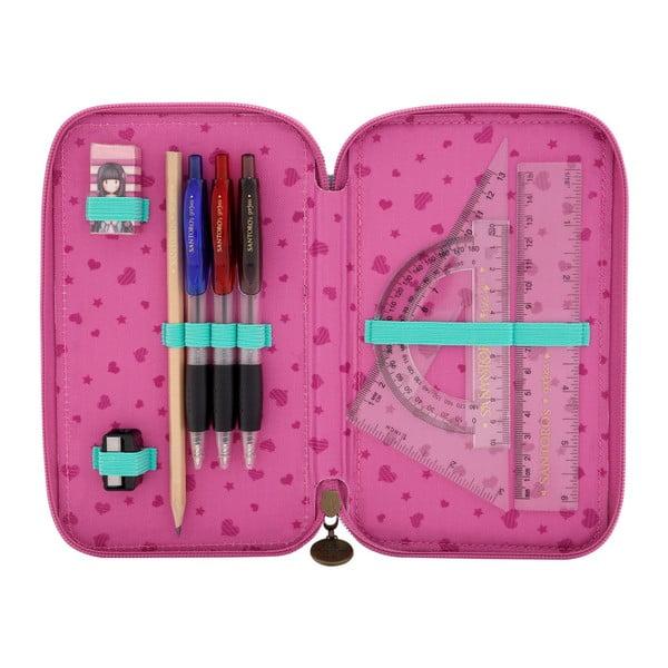 Pouzdro na tužky a pastelky se zipy Santoro London Rosebud