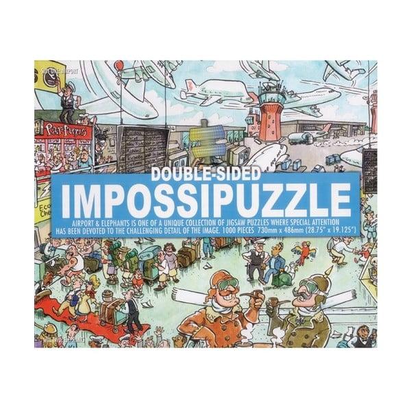 Oboustranné puzzle Letiště a Sloni, 1000 ks