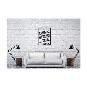 Černá nástěnná dekorace Oyo Concept Think Outside The Box, 40x60cm