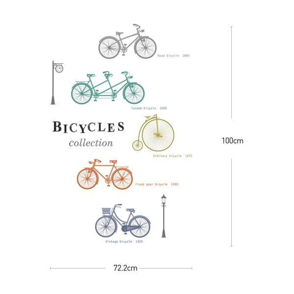 Samolepka Ambiance Colorful Bikes