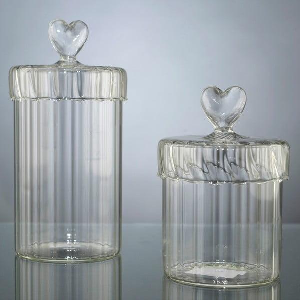 Sada 2 dóz Heart Jars