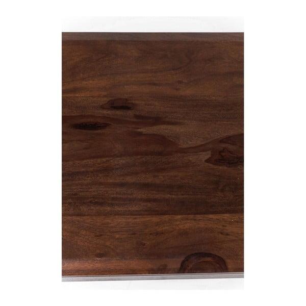 Lavice z masivního dřeva v dekoru ořešáku Kare Design, délka 175 cm