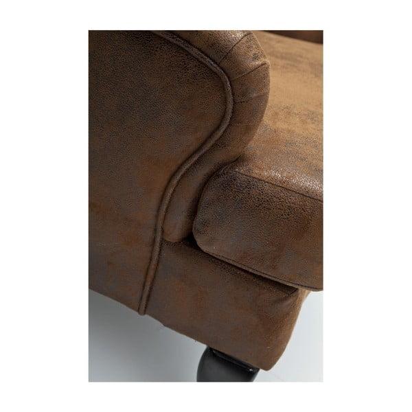 Hnědé křeslo ušák Kare Design Vintage