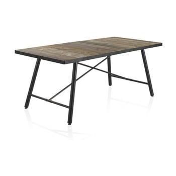 Masă din lemn cu picioare metalice Geese Capri, 150x90cm de la Geese
