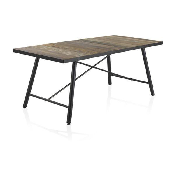 Drewniany stół do jadalni z metalowymi nogami Geese Capri, 150x90 cm