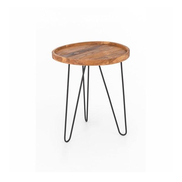 Konferenčný stolík Index so železnými nohami WOOX LIVING Patricia, ⌀ 50 cm