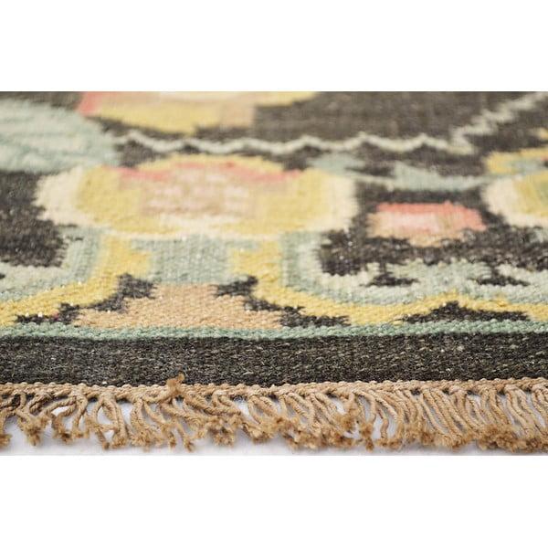 Vlněný koberec Kilim Floral No. 174, 155x240 cm