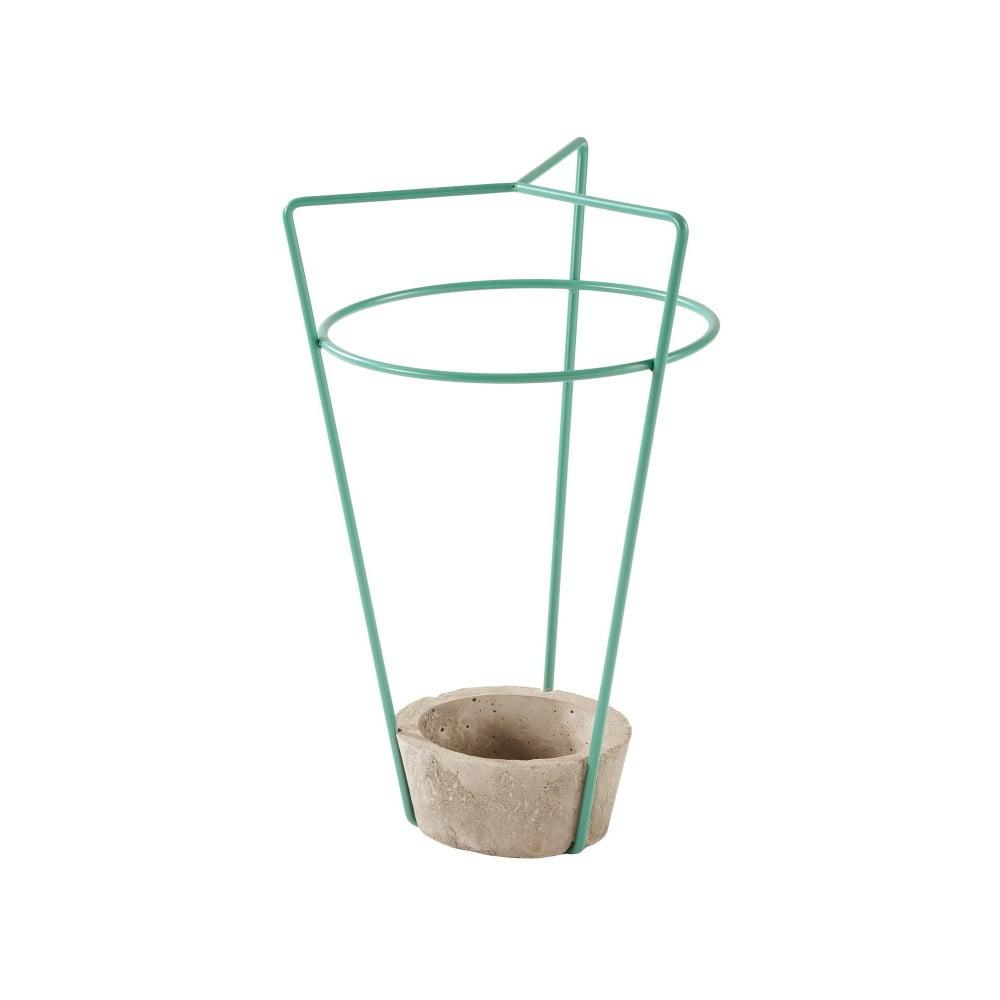 Zelený stojan na deštníky s betonovou základnou MEME Design Ambrogio