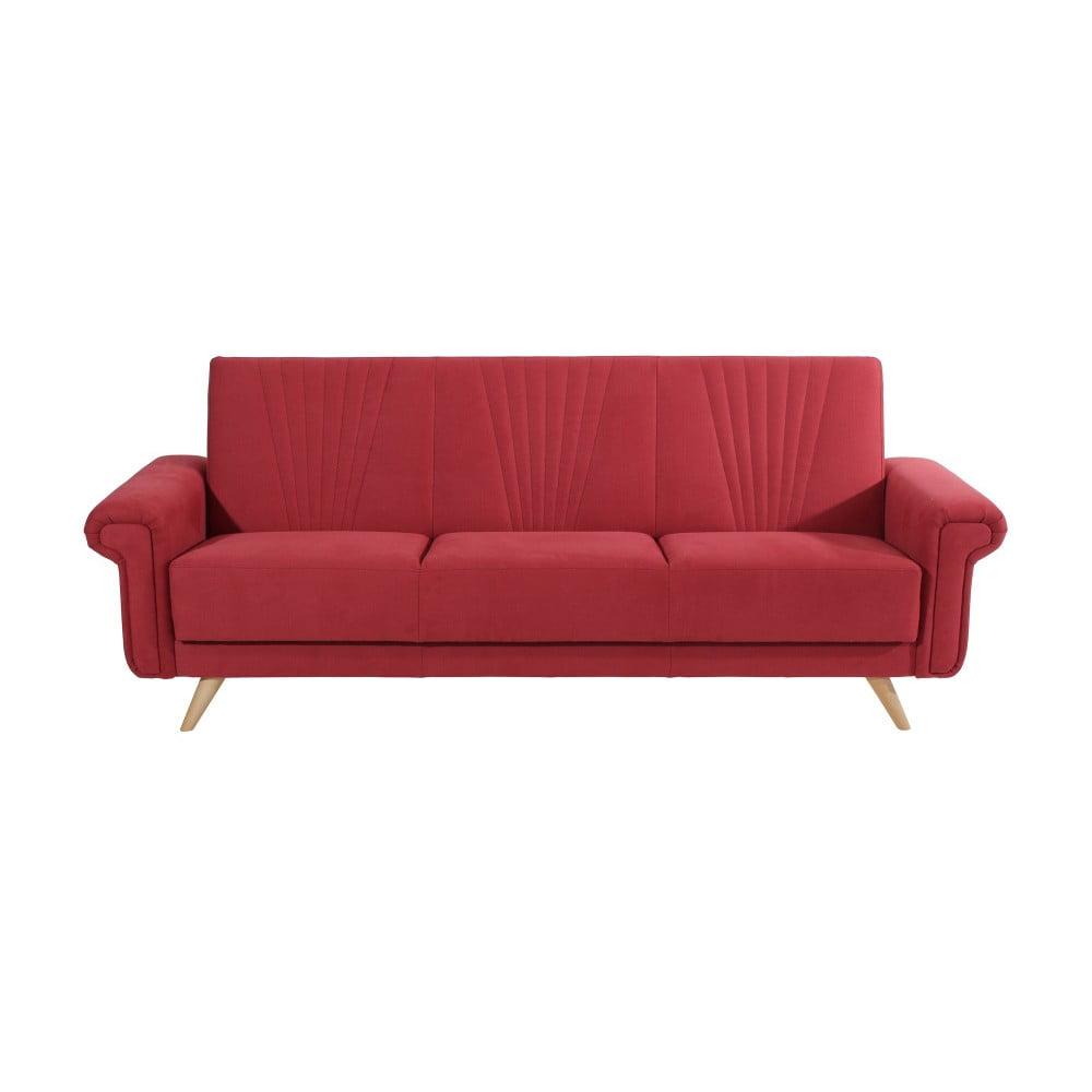Červená rozkládací třímístná pohovka Max Winzer Jannes