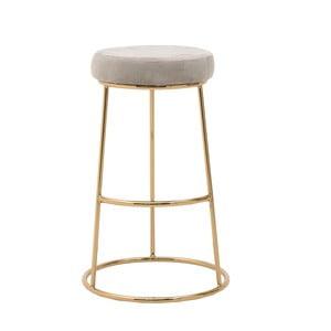 Světle šedá stolička InArt Velvet Society, výška68cm