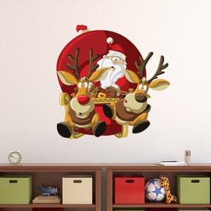Vánoční samolepka Ambiance Santa Claus Fast Pace