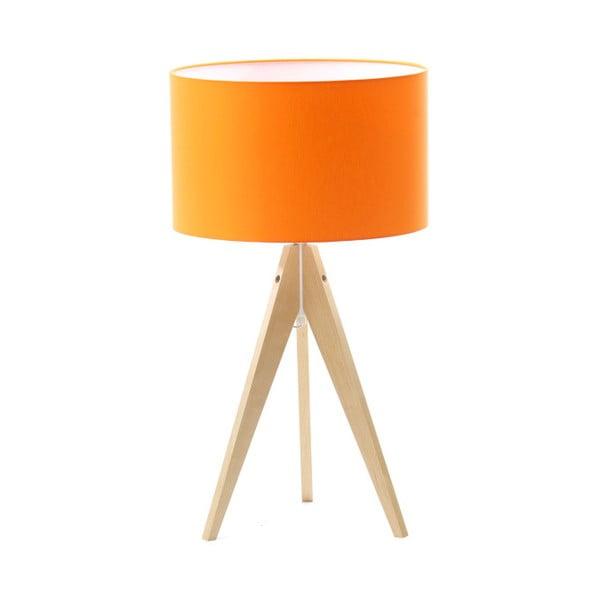 Oranžová stolní lampa 4room Artist, bříza, Ø 33 cm
