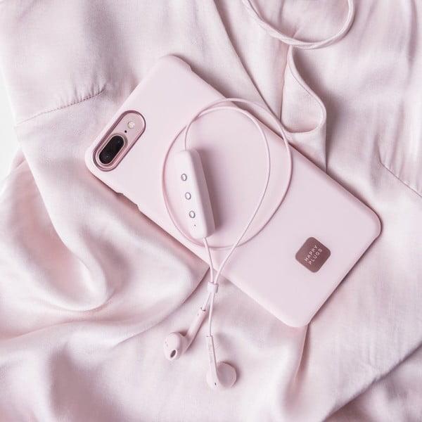 Husă protecție telefon pentru iPhone 7 și 8 Happy Plugs Slim, roz