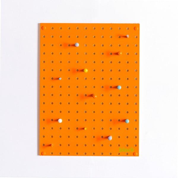 Multifunkční nástěnka Pegboard 30x40 cm, oranžová