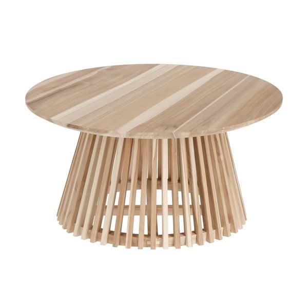 Irune teakfa dohányzóasztal, ⌀ 80 cm - La Forma