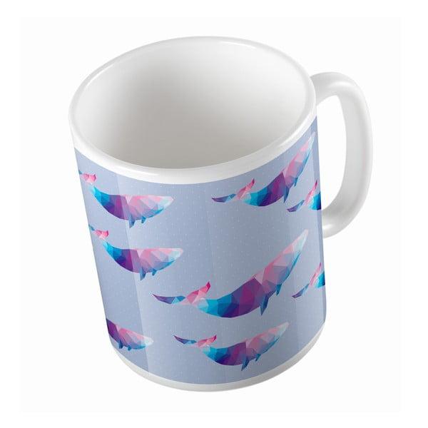 Keramický hrnek Origami Whales, 330 ml