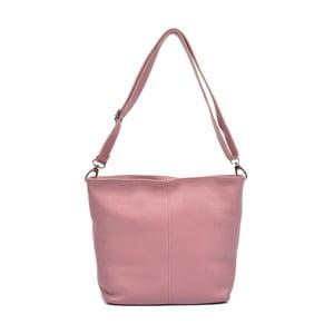 Růžová kožená kabelka Luisa Vannini Gratia