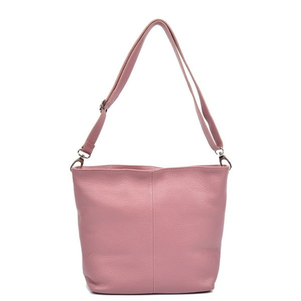 Poșetă din piele Luisa Vannini Gratia, roz