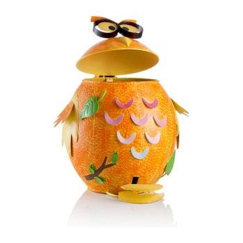 Coș de gunoi în formă de bufniță Brandani, portocaliu de la Brandani