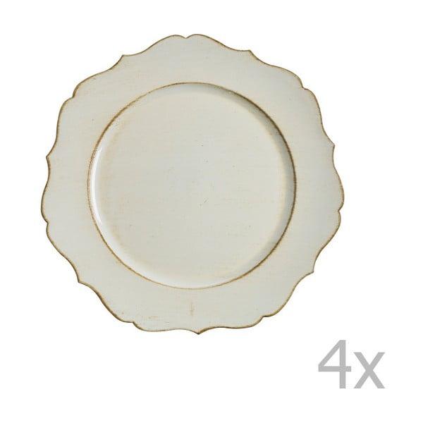 Sada 4 krémových talířů Blasone
