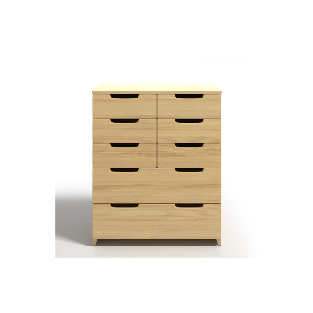 Komoda z borovicového dřeva s 8 zásuvkami SKANDICA Spectrum