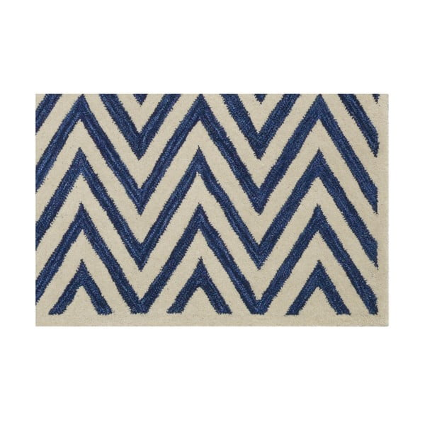 Vlněný koberec Ziggy, 122x183 cm, tmavě modrý