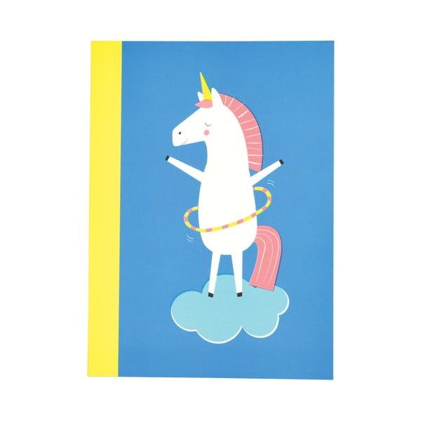 Set 2 caiete exerciții tip dictando cu imprimeu unicorn Rex London Magical Unicorn