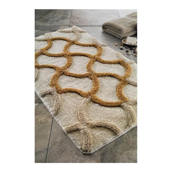 Koupelnová předložka Hermos Gold, 60x100 cm