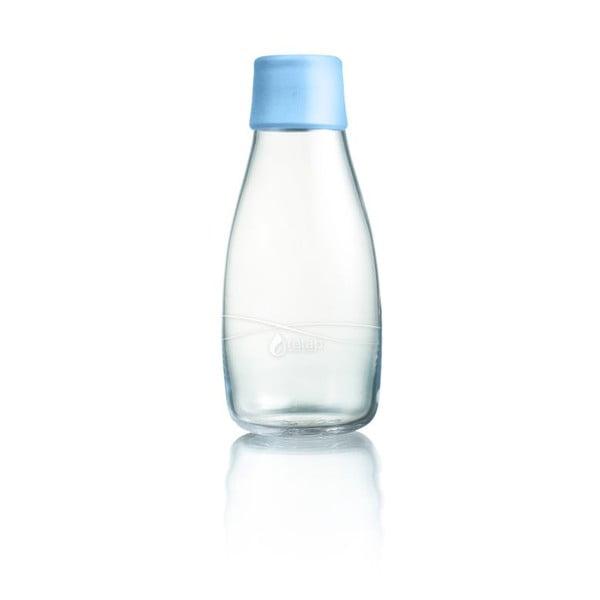 Pastelově modrá skleněná lahev ReTap s doživotní zárukou, 300ml