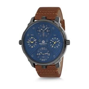 Pánské hodinky s hnědým koženým řemínkem Bigotti Milano Casper
