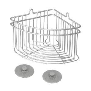 Koupelnový rohový košík Metaltex Frost, 19 x 19 cm