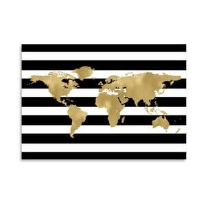 Plakát Americanflat Black & White World, 42 x 30 cm