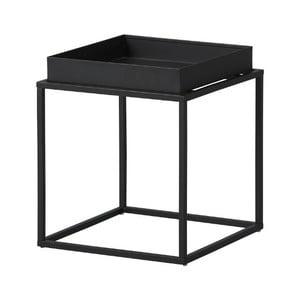Černý kovový odkládací stolek Intersil Club NY