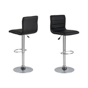Černá barová židle s nastavitelnou výškou Actona Valerie
