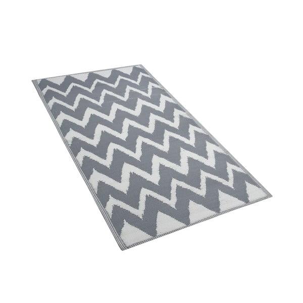 Šedý venkovní koberec Monobeli Calissa, 90 x 180 cm