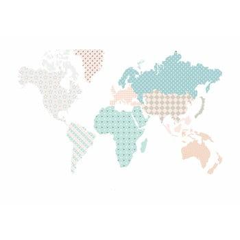 Autocolant pentru perete Dekornik Map Pastel