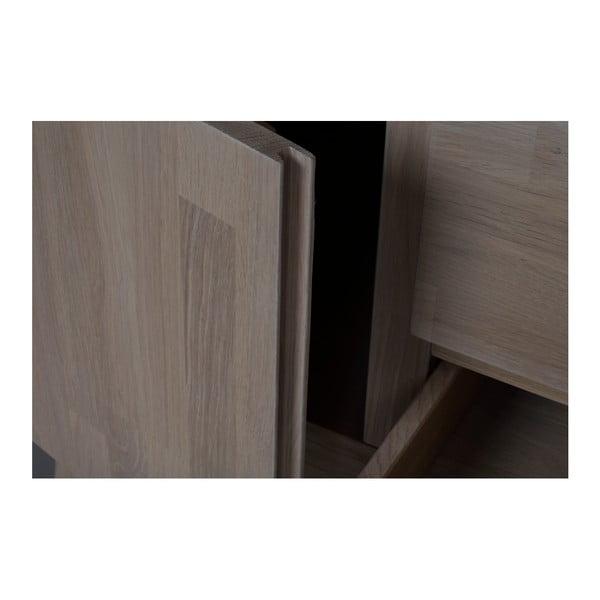 Comodă mată din lemn de stejar Folke Heimdal