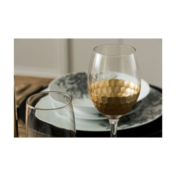 Set 4 pahare vin din sticlă suflată manual Premier Housewares Astrid, 5 dl