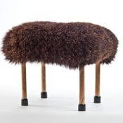 Stolička z ovčí kůže Nerys Chocolate