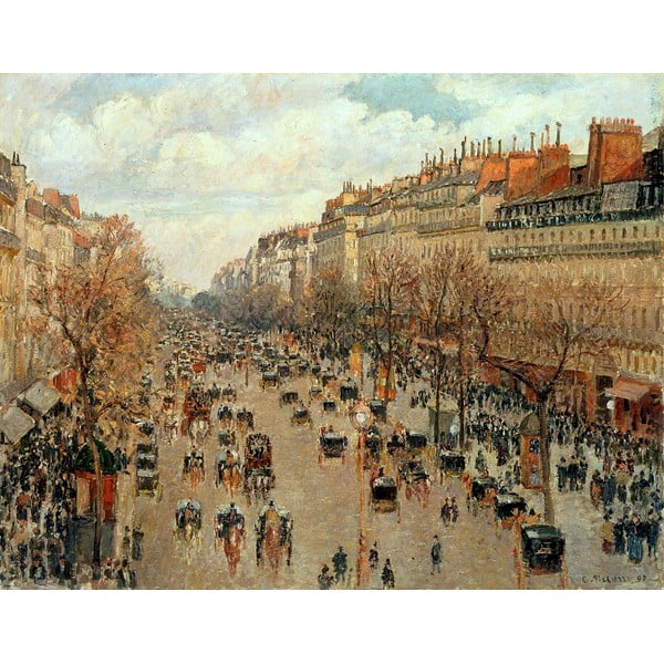 Reproducere tablou Camille Pissarro - Boulevard Montmartre Eremitage, 90 x 70 cm