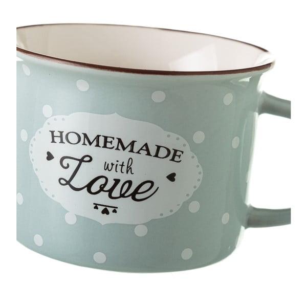 Zeleno-šedý porcelánový hrneček Unimasa Homemade, 170ml