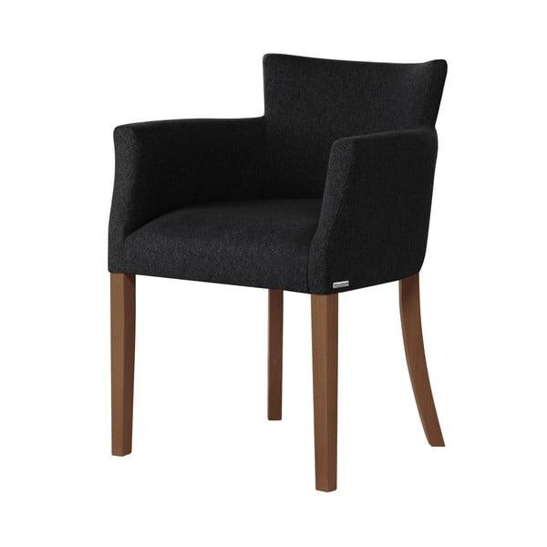 Santal fekete bükk szék sötétbarna lábakkal - Ted Lapidus Maison