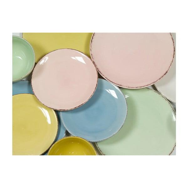 Set veselă din ceramică Santiago Pons, 19 piese, galben