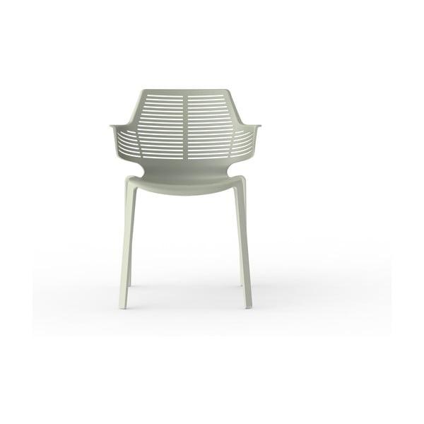 Sada 2 šedozelených zahradních židlí Resol Ikona