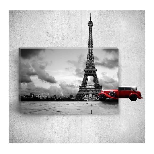 Eiffel Tower 3D fali kép, 40 x 60 cm - Mosticx