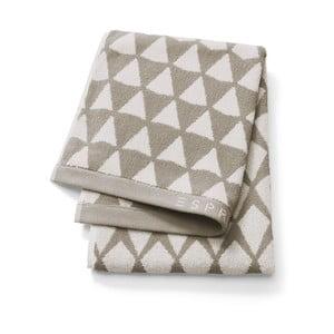 Světle hnědý vzorovaný ručník Esprit Mina, 50x100cm