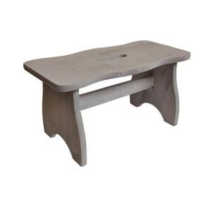 Stolička z borovicového dřeva Valdomo, výška20cm