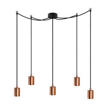 Corp de iluminat cu 5 cabluri Bulb Attack Cero, negru – arămiu de la Bulb Attack
