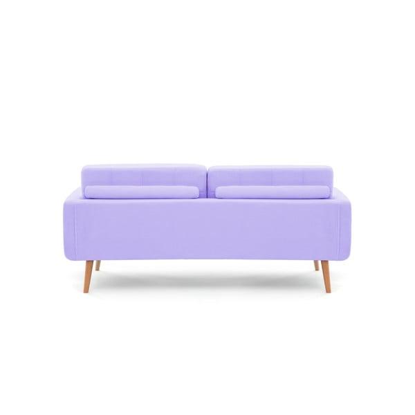 Pastelově fialová pohovka pro tři Vivonita Ina