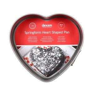 Forma na pečení dortu ve tvaru srdce s nepřilnavým povrchem Dexam Heart, ø28cm